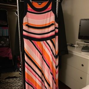 Colorful stripe dress